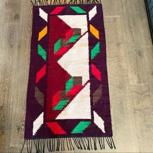 Other - Bohemian Hand crafted wool kilim / Dhurrie rug